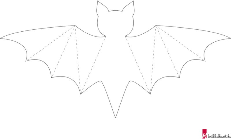 Fledermaus Vorlage Pdf Zum Ausdrucken Kribbelbunt