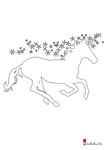 einhorn vorlage » einhorn schablone als pdf | kribbelbunt