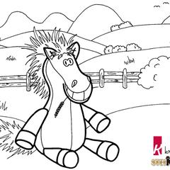 Ausmalbilder Pferde Kostenlos Als Pdf A4 Kribbelbunt