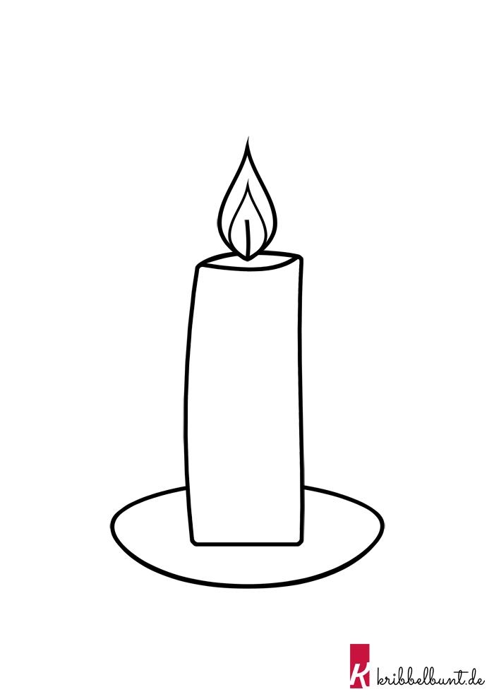 Kerzen Vorlagen Zum Ausdrucken Kostenlos Als Pdf Kribbelbunt