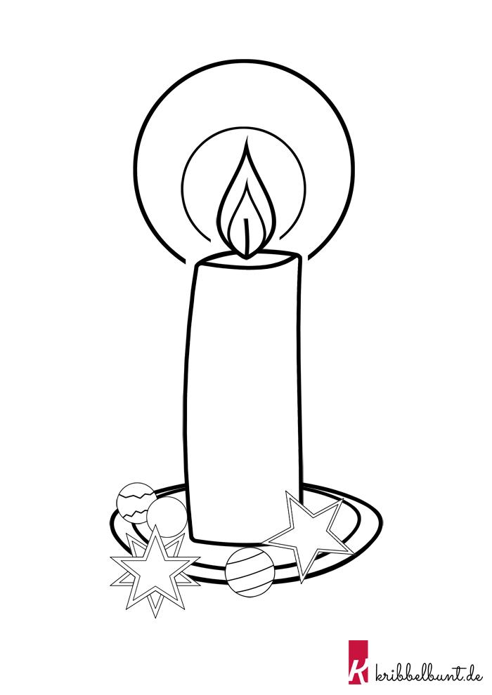 Kerze Basteln 1 Bastelvorlagen Zum Ausdrucken 0