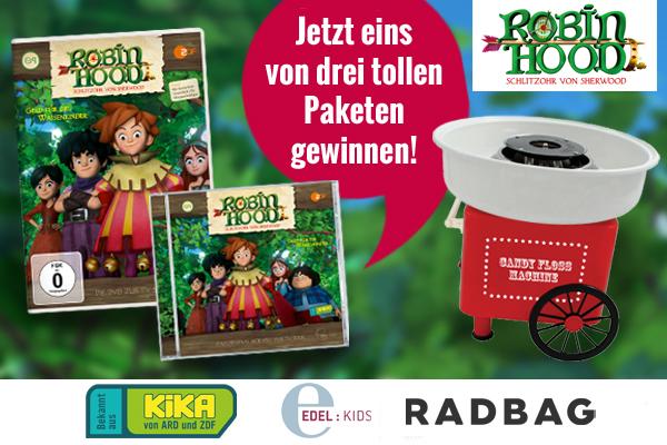 Auflosung Gewinnspiel Robin Hood Fanpaket Eine Zuckerwattemaschine Kribbelbunt