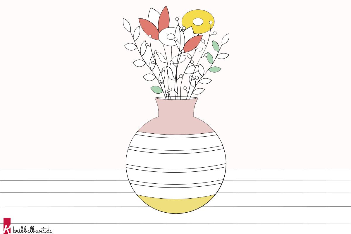Malen Nach Zahlen Blumen Ausmalbild Blumen Pdf Kribbelbunt