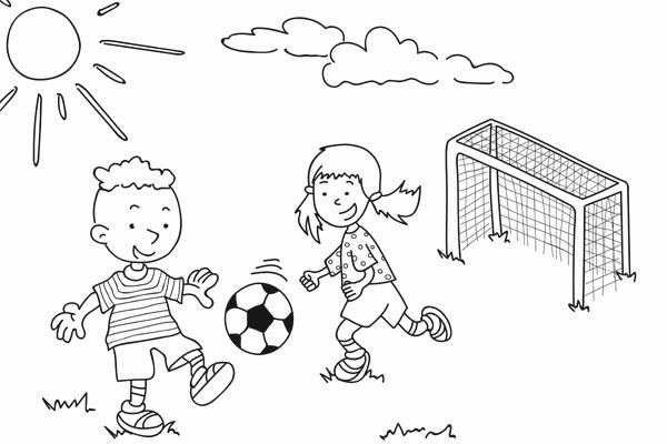 Ausmalbilder Fussball Calendar June
