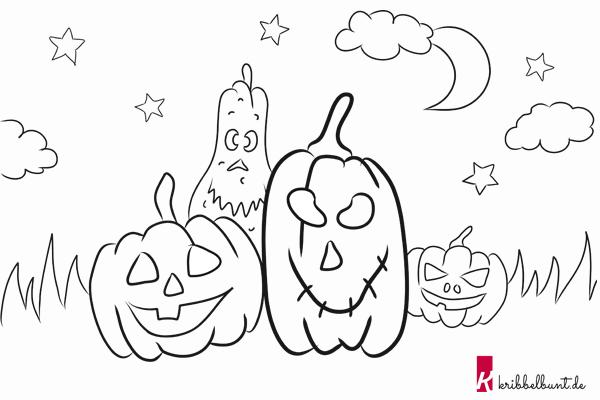 Ausmalbild Halloween Kribbelbunt