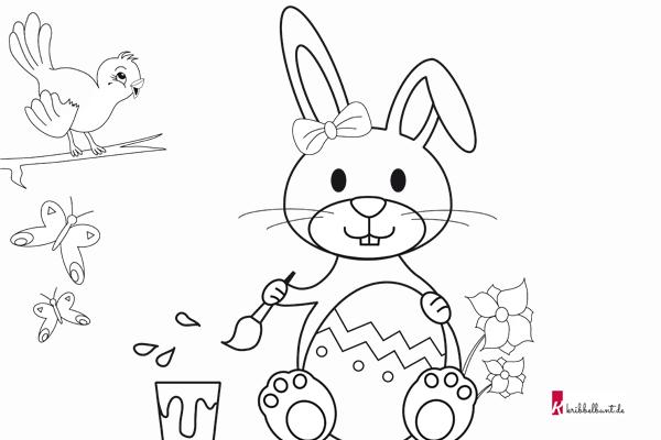 Ausmalbild Hase • Malvorlage Hase » PDF - Kribbelbunt