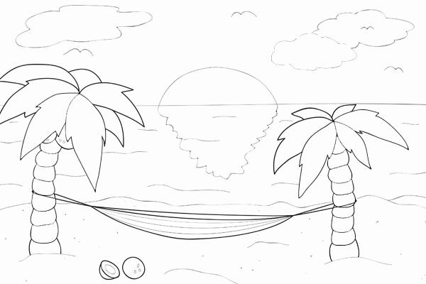 ausmalbild sommer  kribbelbunt