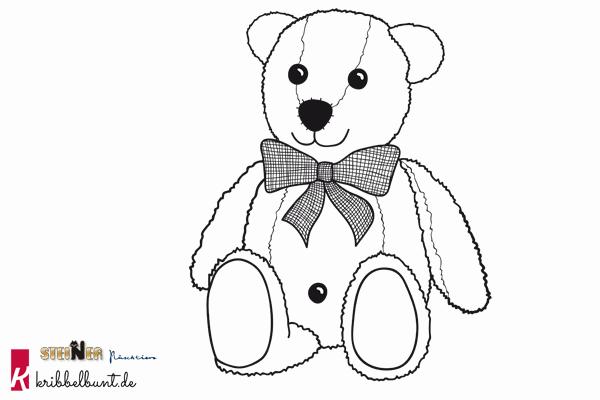ausmalbild teddy » malvorlage teddy  kribbelbunt