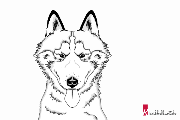 Ausmalbild Hund Kribbelbunt