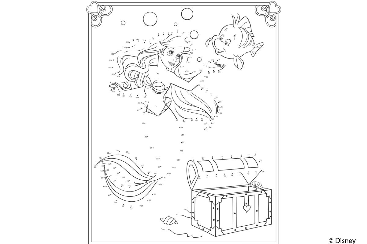 ausmalbilder arielle die meerjungfrau  coloring and drawing