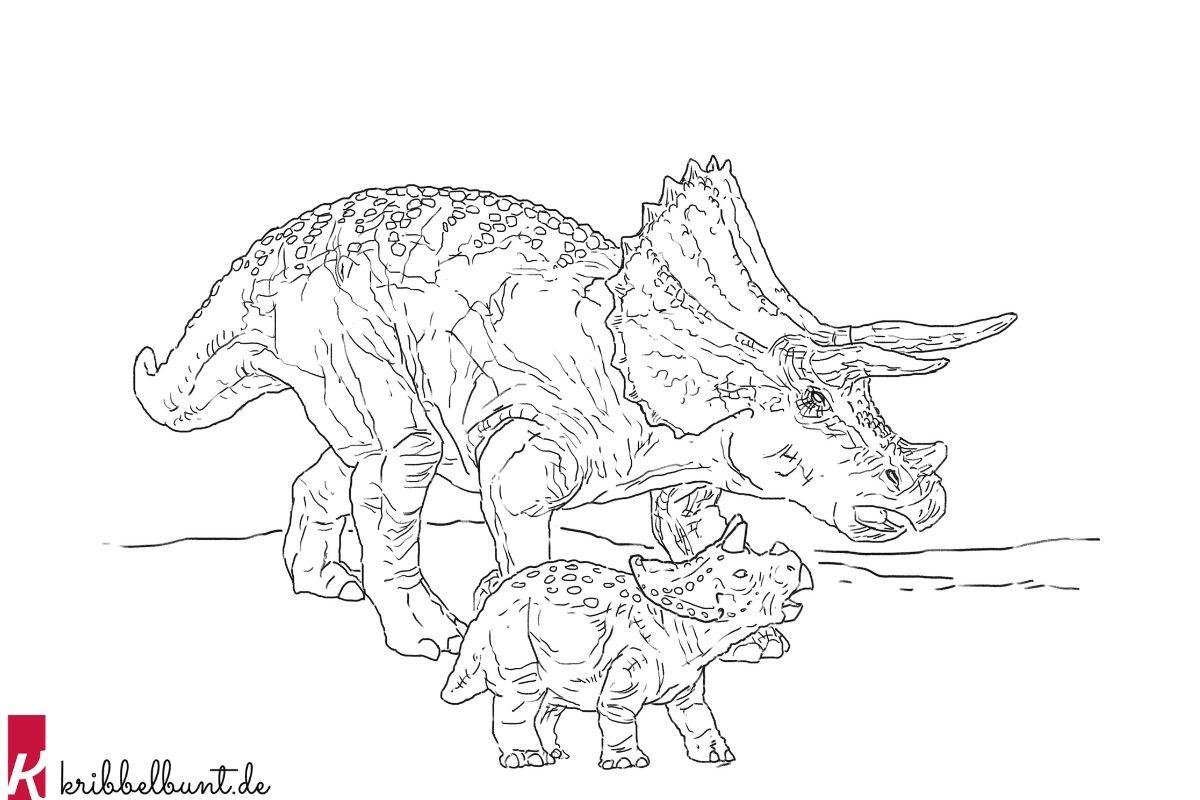 Ausmalbilder Dinosaurier Pdf Zum Ausdrucken Kribbelbunt