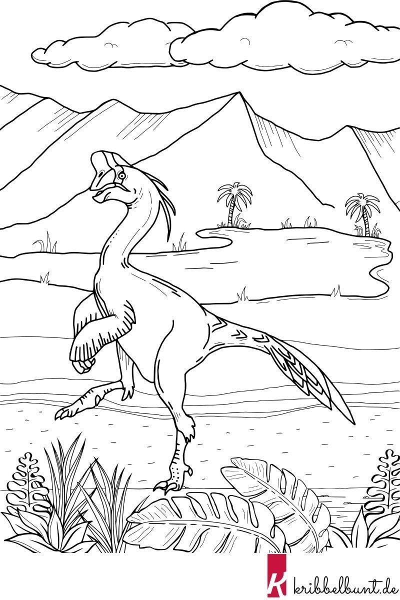 ausmalbild dinosaurier  kribbelbunt