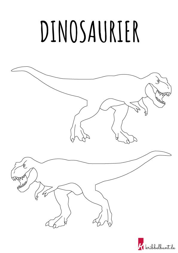 ausmalbilder dinosaurier » pdf zum ausdrucken  kribbelbunt