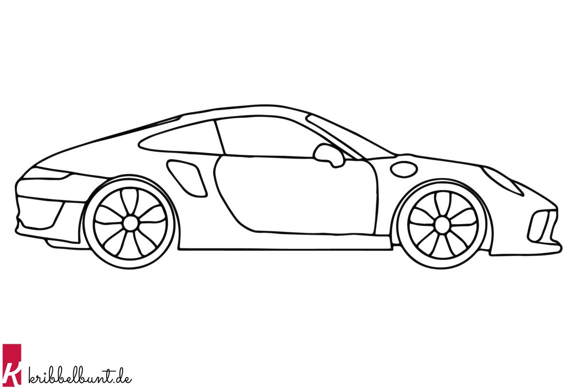 ausmalbild auto  malvorlagen auto » pdf  kribbelbunt