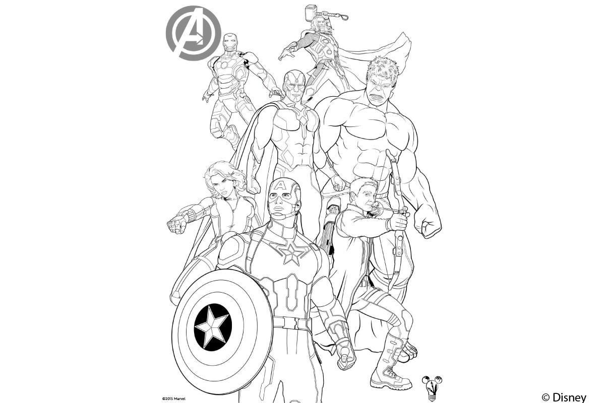 Avengers Ausmalbild  Kribbelbunt