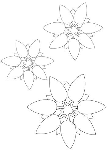 Blume Basteln 7 Blumen Vorlage Blumen Schablone