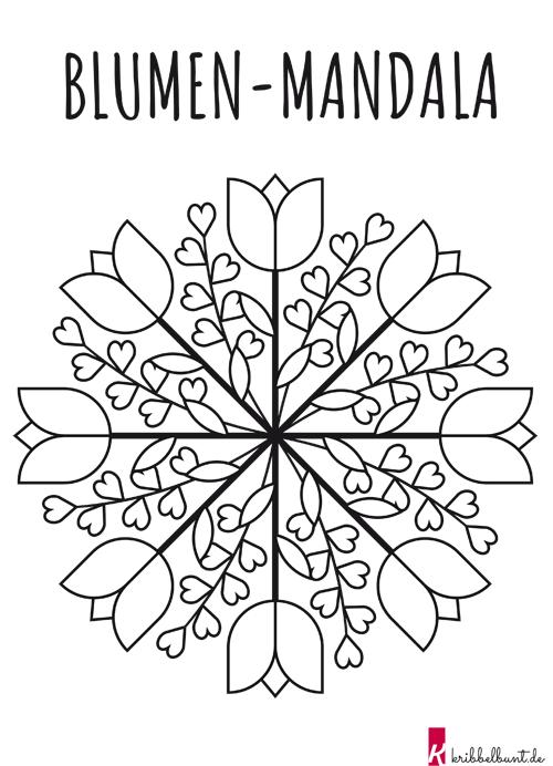Mandala Blumen Mandala Mit Blumen Pdf Kribbelbunt