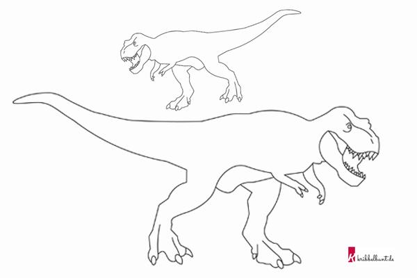 Schultute Dinosaurier Bastelanleitung Vorlagen 10