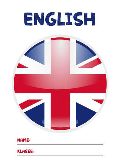 Englisch Deckblatt » PDF zum Ausdrucken   Kribbelbunt
