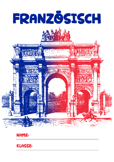 Französisch Deckblatt Pdf Zum Ausdrucken Kribbelbunt