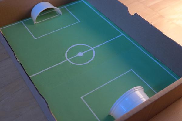 Fussballfeld Basteln Kribbelbunt