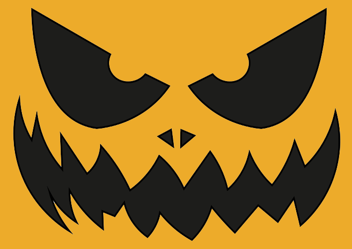 halloween kürbis vorlage » kürbis schnitzen vorlage