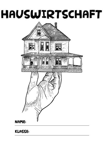 hauswirtschaft deckblatt pdf zum ausdrucken kribbelbunt. Black Bedroom Furniture Sets. Home Design Ideas