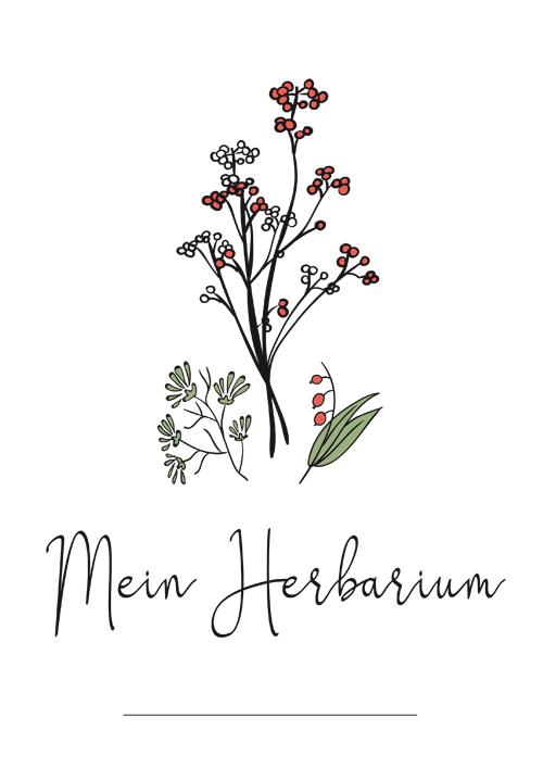 Herbarium Deckblatt Pdf Zum Ausdrucken Kribbelbunt