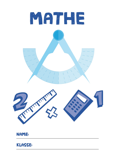 Mathe Deckblatt » PDF zum Ausdrucken   Kribbelbunt