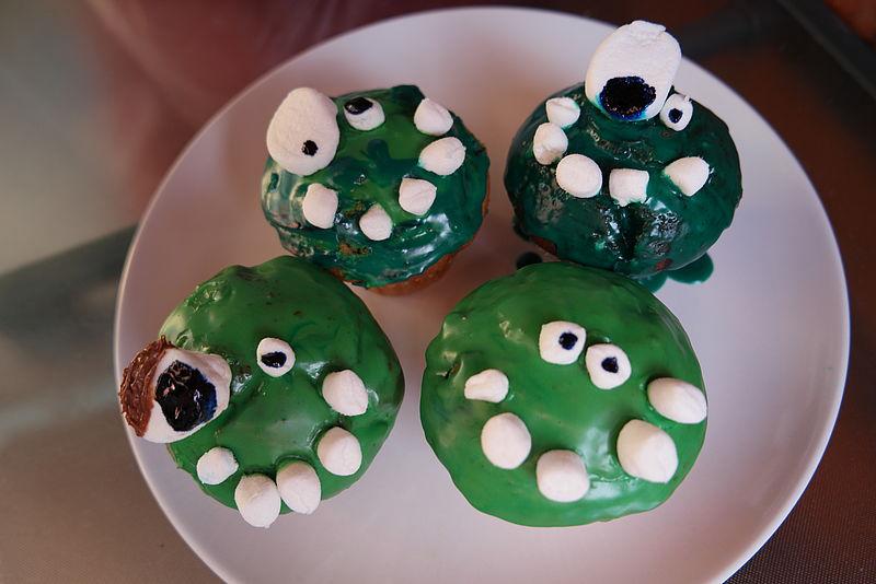 klebrig susse monster muffins