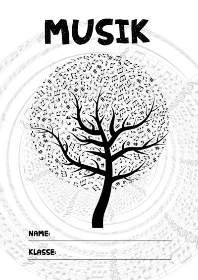 Musik Deckblatt » PDF zum Ausdrucken - Kribbelbunt