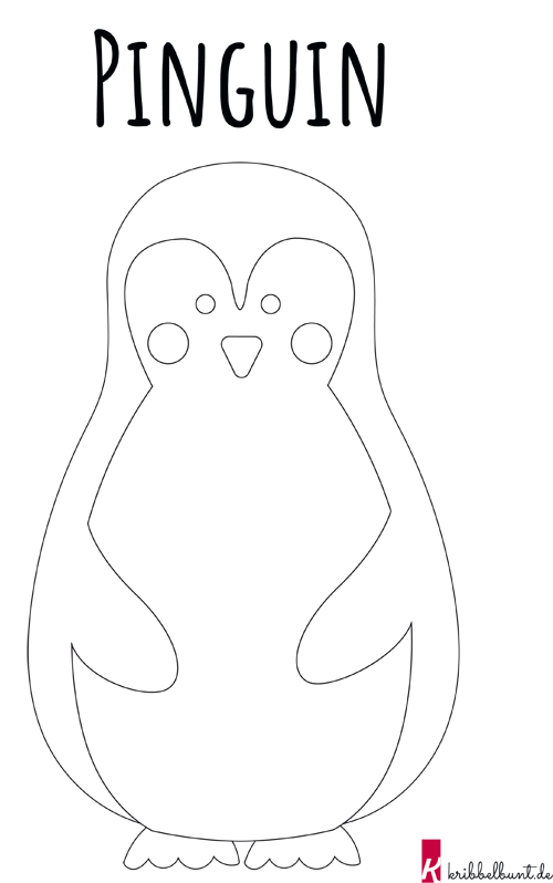 Pinguin Vorlage Pinguin Basteln Vorlage Pdf Kribbelbunt