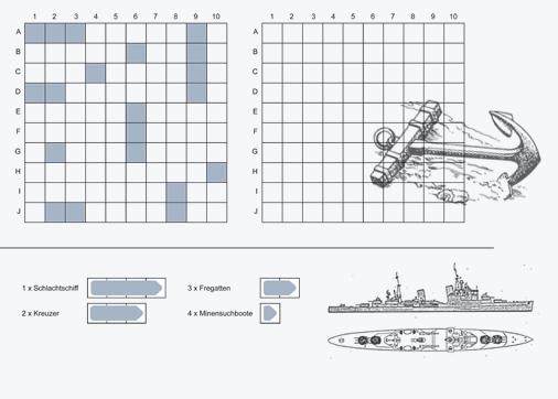 Schiffe Versenken Spiel Vorlagen Ausdrucken A4 2