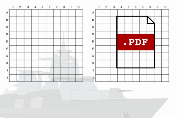 Favorit Schiffe versenken Vorlage » PDF zum Ausdrucken - Kribbelbunt YB77