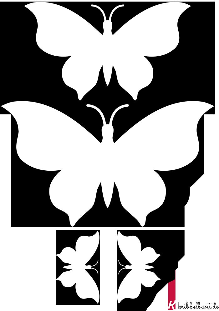 Schmetterling Vorlage zum Ausdrucken » PDF | Kribbelbunt