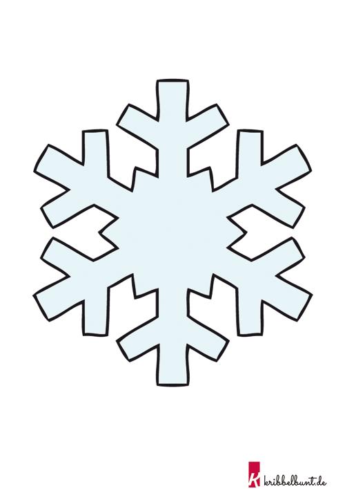 Schneeflocken Vorlage Zum Ausdrucken Pdf Kribbelbunt