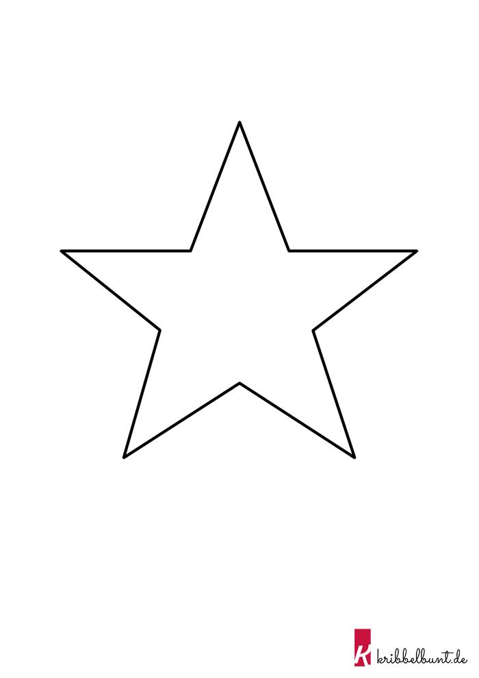 Stern Vorlage zum Ausdrucken » PDF Sternvorlagen | Kribbelbunt
