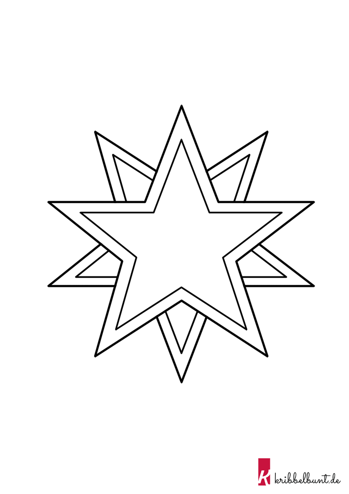 Stern Vorlage Zum Ausdrucken Pdf Sternvorlagen Kribbelbunt