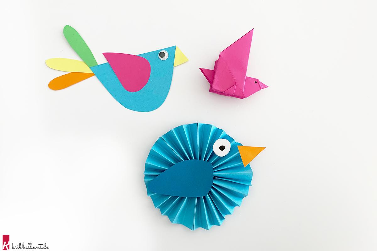 bastelvorlagen vögel zum ausdrucken  basteln fruhling